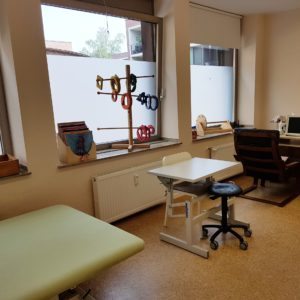 Behandlungsraum der Ergotherapie Praxis Coesfeld Rogers-Horch